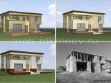 Декор фасадов существующего строения