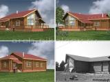 Декор фасадов существующего деревянного дома