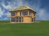 Элитный деревянный дом Атриум