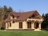 Рубленый деревяный дом - проект дома 140 м2