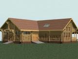 Элитный деревянный дом с конюшней
