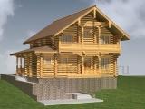 Элитный деревянный дом Альпина