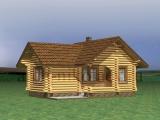 Рубленый деревянный дом «Гость»