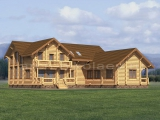 Рубленый деревяный дом «Комфорт»