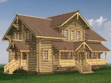 Рубленый деревянный дом причта